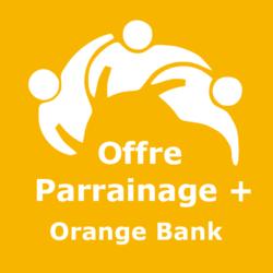 Logo Offre parrainage + Orange Bank